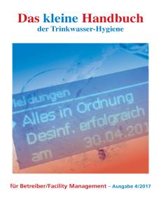 Das kleine Handbuch der Trinkwasser-Hygiene für Betreiber/Facility Management
