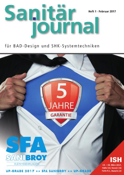 Cover SanitärJournal 2/2017
