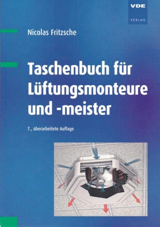 """Cover """"Taschenbuch für Lüftungsmonteure und -meister"""""""