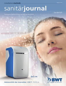 SanitärJournal Sonderheft Installationstechnik 2018